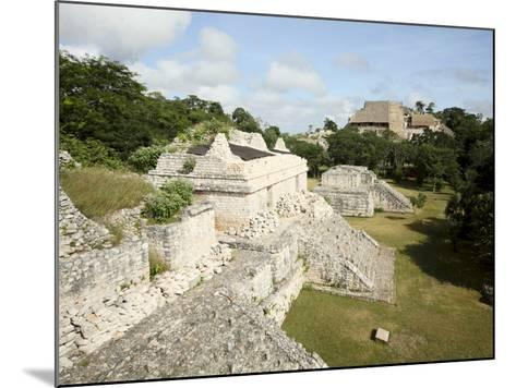 The Twin Pyramids, Mayan Ruins, Ek Balam, Yucatan, Mexico, North America-Balan Madhavan-Mounted Photographic Print