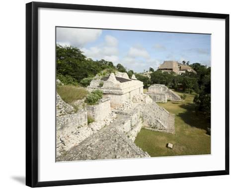 The Twin Pyramids, Mayan Ruins, Ek Balam, Yucatan, Mexico, North America-Balan Madhavan-Framed Art Print