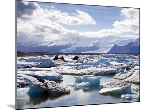Icebergs in Glacial Lagoon at Jokulsarlon, Iceland, Polar Regions-Lee Frost-Mounted Photographic Print