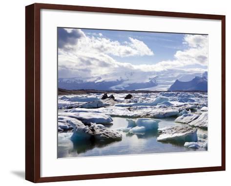 Icebergs in Glacial Lagoon at Jokulsarlon, Iceland, Polar Regions-Lee Frost-Framed Art Print