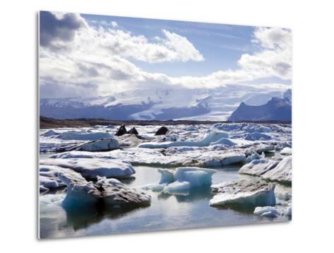 Icebergs in Glacial Lagoon at Jokulsarlon, Iceland, Polar Regions-Lee Frost-Metal Print