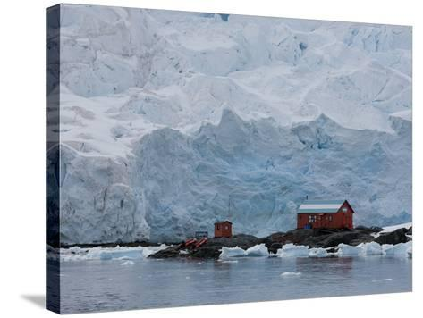 Glacier, Argentine Research Station, Paradise Bay, Antarctic Peninsula, Antarctica, Polar Regions-Thorsten Milse-Stretched Canvas Print