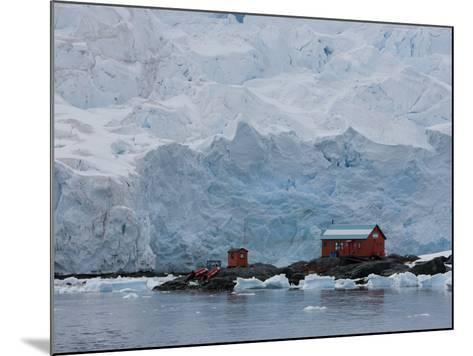 Glacier, Argentine Research Station, Paradise Bay, Antarctic Peninsula, Antarctica, Polar Regions-Thorsten Milse-Mounted Photographic Print