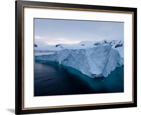 Glacier, Paradise Bay, Antarctic Peninsula, Antarctica, Polar Regions-Thorsten Milse-Framed Art Print