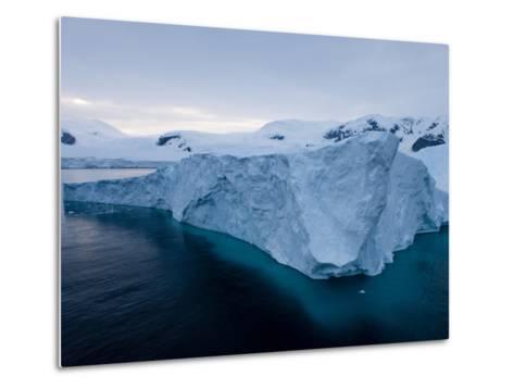 Glacier, Paradise Bay, Antarctic Peninsula, Antarctica, Polar Regions-Thorsten Milse-Metal Print