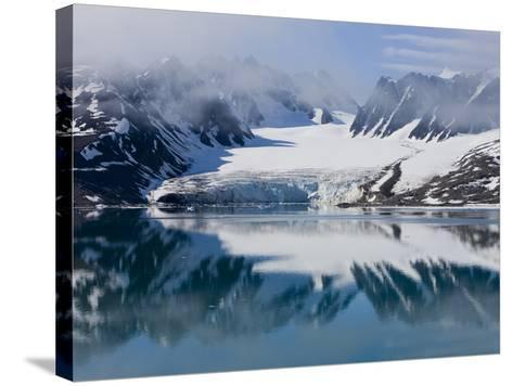 Glacier, Spitzbergen, Svalbard, Norway, Arctic, Scandinavia, Europe-Thorsten Milse-Stretched Canvas Print