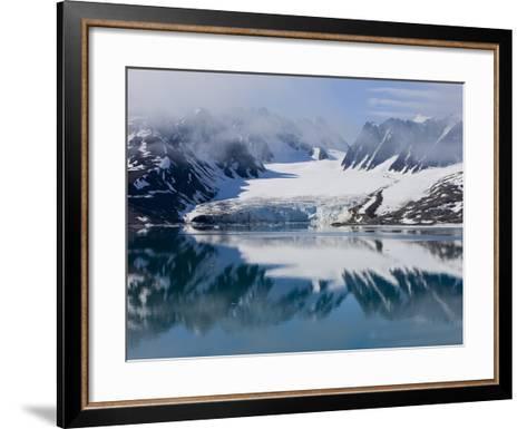 Glacier, Spitzbergen, Svalbard, Norway, Arctic, Scandinavia, Europe-Thorsten Milse-Framed Art Print