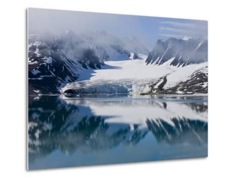 Glacier, Spitzbergen, Svalbard, Norway, Arctic, Scandinavia, Europe-Thorsten Milse-Metal Print