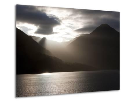 Fjord, Thomson Sound, South Island, New Zealand, Pacific-Thorsten Milse-Metal Print