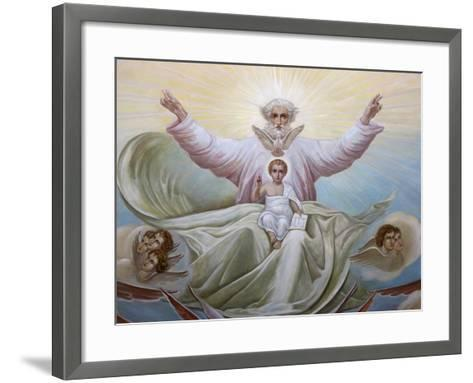 Ceiling Fresco in the Russian Orthodox Church of the Holy Trinity, Jerusalem, Israel, Middle East--Framed Art Print