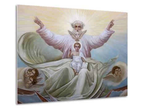 Ceiling Fresco in the Russian Orthodox Church of the Holy Trinity, Jerusalem, Israel, Middle East--Metal Print