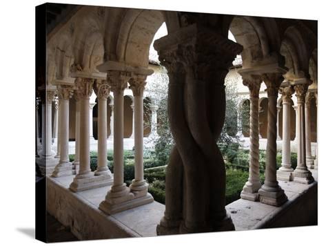 Saint-Sauveur Cathedral Cloister, Aix-En-Provence, Bouches Du Rhone, Provence, France, Europe--Stretched Canvas Print