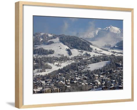 Megeve Village in Winter, Megeve, Haute Savoie, French Alps, France, Europe--Framed Art Print