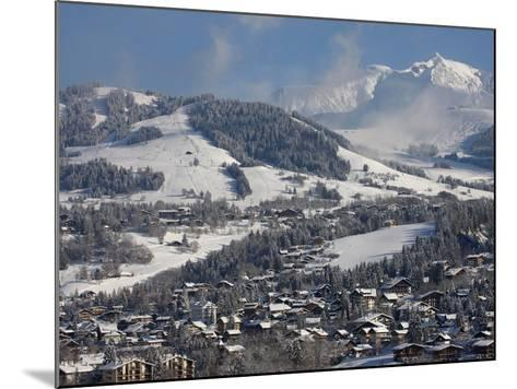 Megeve Village in Winter, Megeve, Haute Savoie, French Alps, France, Europe--Mounted Photographic Print