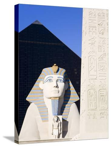 Sphinx and Obelisk Outside the Luxor Casino, Las Vegas, Nevada, USA-Richard Cummins-Stretched Canvas Print