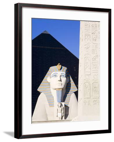 Sphinx and Obelisk Outside the Luxor Casino, Las Vegas, Nevada, USA-Richard Cummins-Framed Art Print
