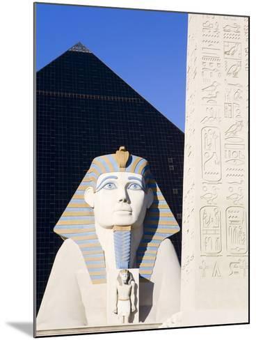 Sphinx and Obelisk Outside the Luxor Casino, Las Vegas, Nevada, USA-Richard Cummins-Mounted Photographic Print