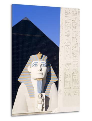 Sphinx and Obelisk Outside the Luxor Casino, Las Vegas, Nevada, USA-Richard Cummins-Metal Print