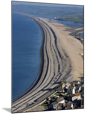Chesil Beach and the Fleet Lagoon, Weymouth, Dorset, England, United Kingdom, Europe-Roy Rainford-Mounted Photographic Print