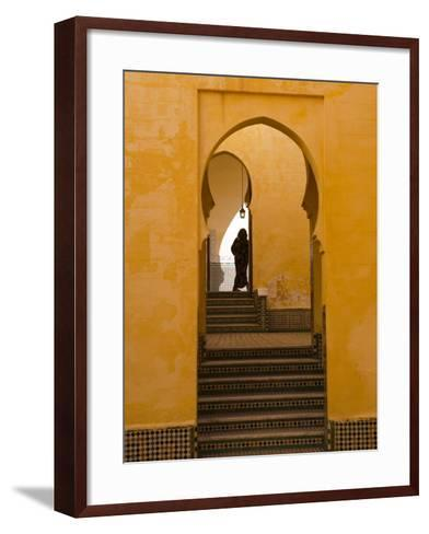 Mausoleum of Moulay Ismail, Meknes, Morocco, North Africa, Africa-Marco Cristofori-Framed Art Print