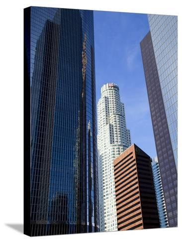 Downtown Skyscrapers in Los Angeles, California, United States of America, North America-Richard Cummins-Stretched Canvas Print