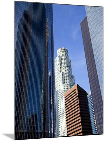 Downtown Skyscrapers in Los Angeles, California, United States of America, North America-Richard Cummins-Mounted Photographic Print