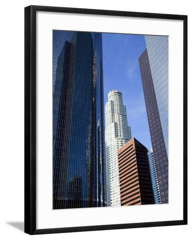 Downtown Skyscrapers in Los Angeles, California, United States of America, North America-Richard Cummins-Framed Art Print