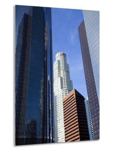 Downtown Skyscrapers in Los Angeles, California, United States of America, North America-Richard Cummins-Metal Print