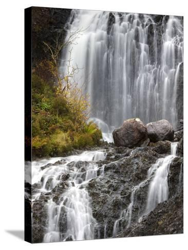 Flowerdale Falls, a Waterfall Near the Village of Gairloch, Torridon, Scotland, United Kingdom-Lee Frost-Stretched Canvas Print