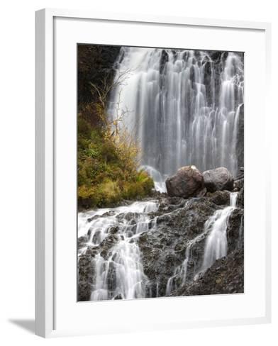 Flowerdale Falls, a Waterfall Near the Village of Gairloch, Torridon, Scotland, United Kingdom-Lee Frost-Framed Art Print