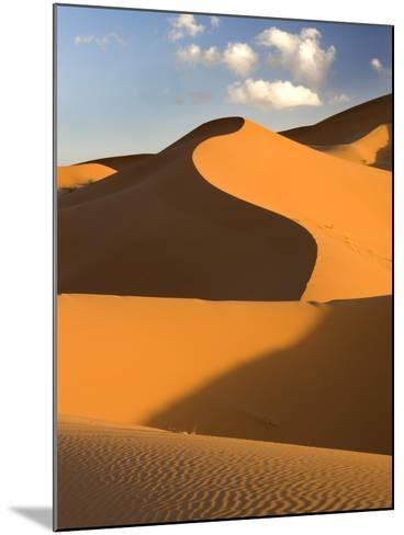 Rolling Orange Sand Dunes and Sand Ripples in the Erg Chebbi Sand Sea Near Merzouga, Morocco-Lee Frost-Mounted Photographic Print