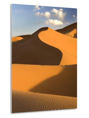Rolling Orange Sand Dunes and Sand Ripples in the Erg Chebbi Sand Sea Near Merzouga, Morocco-Lee Frost-Metal Print