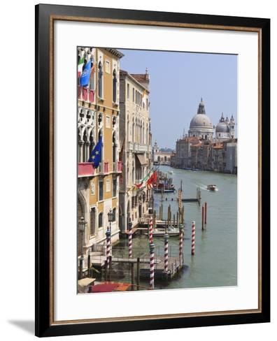 Grand Canal and Santa Maria Della Salute, Venice, UNESCO World Heritage Site, Veneto, Italy, Europe-Amanda Hall-Framed Art Print