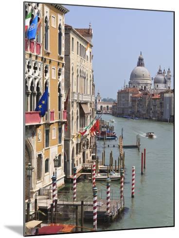 Grand Canal and Santa Maria Della Salute, Venice, UNESCO World Heritage Site, Veneto, Italy, Europe-Amanda Hall-Mounted Photographic Print