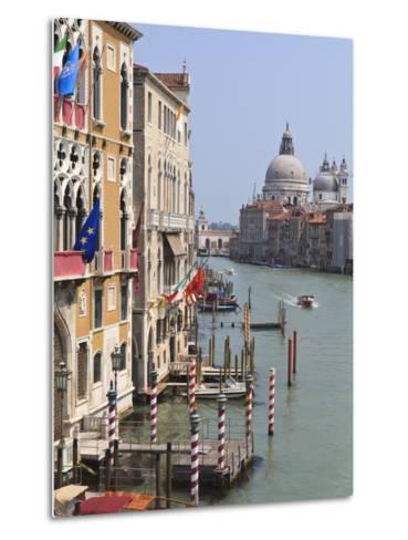 Grand Canal and Santa Maria Della Salute, Venice, UNESCO World Heritage Site, Veneto, Italy, Europe-Amanda Hall-Metal Print