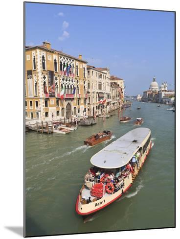 Vaporetto Water Bus, Grand Canal, Venice, UNESCO World Heritage Site, Veneto, Italy, Europe-Amanda Hall-Mounted Photographic Print