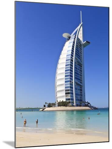 The Iconic Burj Al Arab Hotel, Jumeirah, Dubai, United Arab Emirates, Middle East-Amanda Hall-Mounted Photographic Print