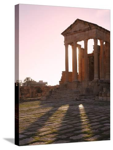 Pillars of the Church of St. Servus in the Roman Ruins of Sbeitla, Tunisia, North Africa, Africa-Dallas & John Heaton-Stretched Canvas Print