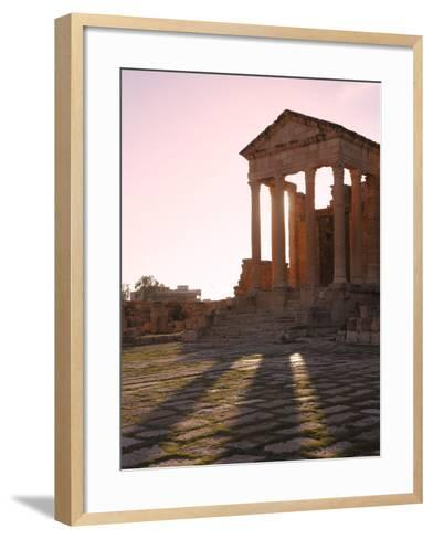 Pillars of the Church of St. Servus in the Roman Ruins of Sbeitla, Tunisia, North Africa, Africa-Dallas & John Heaton-Framed Art Print