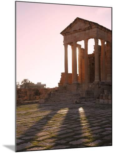 Pillars of the Church of St. Servus in the Roman Ruins of Sbeitla, Tunisia, North Africa, Africa-Dallas & John Heaton-Mounted Photographic Print