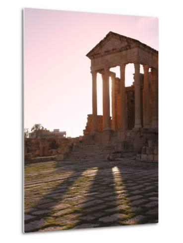 Pillars of the Church of St. Servus in the Roman Ruins of Sbeitla, Tunisia, North Africa, Africa-Dallas & John Heaton-Metal Print