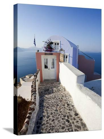 Entrance to a Typical Village House in Oia, Santorini (Thira), Cyclades Islands, Greece-Gavin Hellier-Stretched Canvas Print