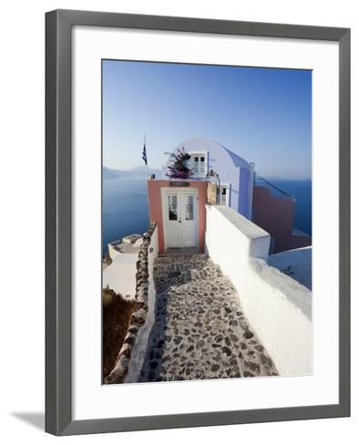 Entrance to a Typical Village House in Oia, Santorini (Thira), Cyclades Islands, Greece-Gavin Hellier-Framed Art Print