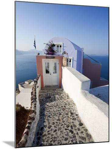 Entrance to a Typical Village House in Oia, Santorini (Thira), Cyclades Islands, Greece-Gavin Hellier-Mounted Photographic Print