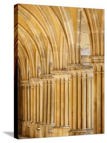 Capitals and Pillars, Royaumont Abbey Cloister, Asnieres-Sur-Oise, Val D'Oise, France, Europe--Stretched Canvas Print
