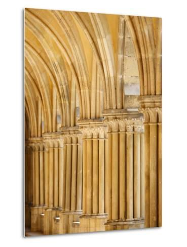 Capitals and Pillars, Royaumont Abbey Cloister, Asnieres-Sur-Oise, Val D'Oise, France, Europe--Metal Print