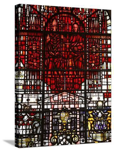 Stained Glass Designed By John Hayward, St. Mary Le Bow, City of London, London, England, Uk--Stretched Canvas Print