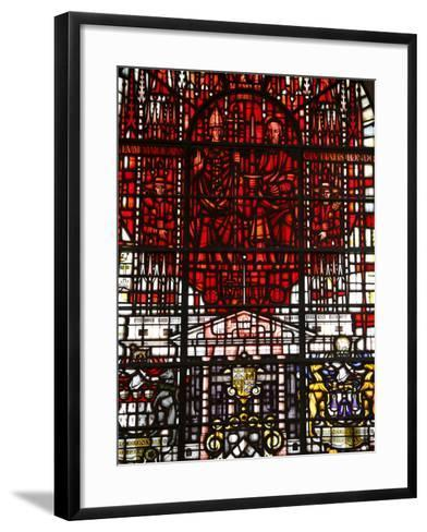 Stained Glass Designed By John Hayward, St. Mary Le Bow, City of London, London, England, Uk--Framed Art Print
