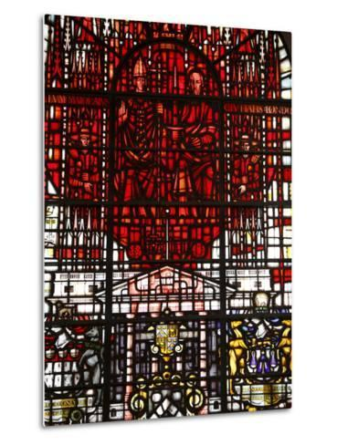 Stained Glass Designed By John Hayward, St. Mary Le Bow, City of London, London, England, Uk--Metal Print