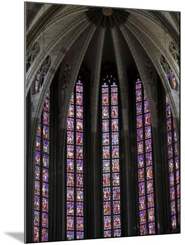 Stained Glass in Sainte-Croix (Holy Cross) Cathedral, Orleans, Loiret, France, Europe--Mounted Photographic Print